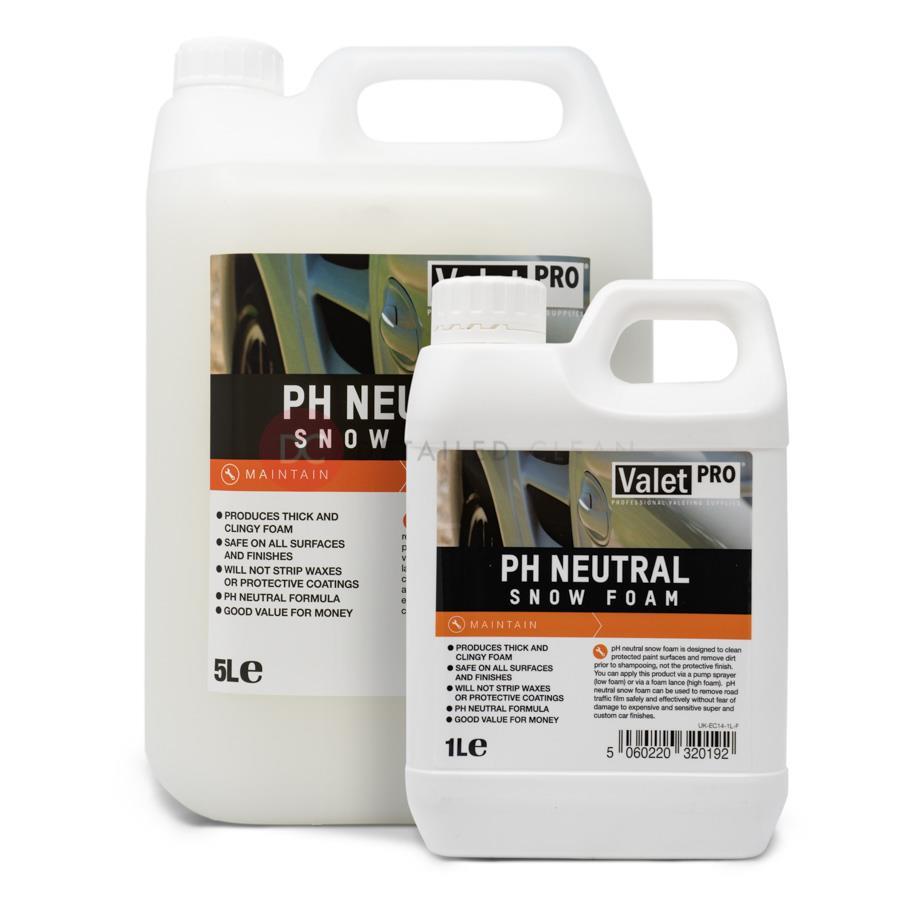 buy valetpro ph neutral snow foam 5 litre detailed clean. Black Bedroom Furniture Sets. Home Design Ideas